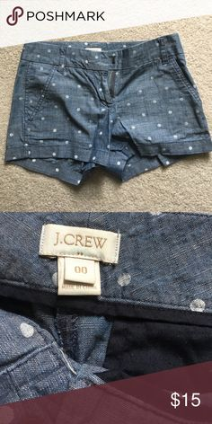 JCREW // chino shorts Great condition. Love these. Chambray material J. Crew Shorts