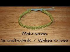 Makramee: Weberknoten (Grundtechnik) | DIY - YouTube
