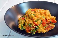 Tomaten-Spinat-Reis