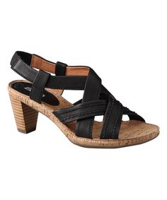 Look what I found on #zulily! Vintage Moro Black Rhea Leather Sandal by ara #zulilyfinds