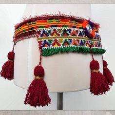 Beaded Tribal Belly Dance Belt - cm) - ATS Costume Belt with Tassels Belly Dance Bra, Dance Belt, Tribal Belly Dance, Tribal Fusion, Crochet Earrings, Boho, Etsy, Handmade, Tassels