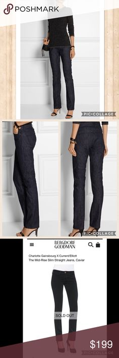 CURRENT ELLIOT Navy CORDS NWT size 27 Just in Current Elliot Navy CORDS size 27 NWT MSRP 318.00 and sold out in stores. These are mid rise slim straight and 4 pocket zip. Inseam 33 Current/Elliott Jeans Straight Leg