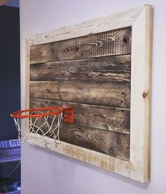 Pallet Old School Basketball Hoop And Backboard Hoop Was Taken From A Farm In Illinois And Had