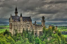 Neuschwanstein- I love the old German castles! They look so cool!