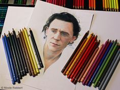 Tom Hiddleston WIP by Quelchii Traditional Art / Drawings / Portraits & Figures©2014 Quelchii