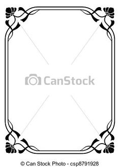 Vector - art nouveau ornamental decorative frame - stock illustration, royalty free illustrations, stock clip art icon, stock clipart icons, logo, line art, EPS picture, pictures, graphic, graphics, drawing, drawings, vector image, artwork, EPS vector art