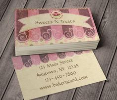 Taupe Pink Cupcake Bakery Business Card This great business card design is available for customization. All text style, colors, sizes can be modified to fit your needs. Just click the image to learn more! | bizcardstudio.co.uk