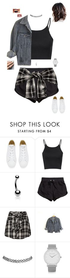 """Two can keep a secret if one of them is dead ⚰"" by jesshorne2014 ❤ liked on Polyvore featuring Converse, Glamorous, Bling Jewelry, H&M, GUESS, Wet Seal, Larsson & Jennings and Floss Gloss"