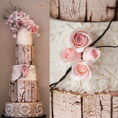 So excited and honored to share this morning this cake I made featured on the Cake International  Magazine March Issue!! It was so tall I can get it to be on a single pic on IG ! The crackled/weathered wood tutorial is there and some other techniques too, all explained on my tut! Woop woop!!! Photo cree: @angelahanrettyphotography  #cakes #cake #cakestagram #cakedesign #cakedecorating #rosas #roses #edibleart #crackled #sugarart
