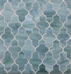 I will use this as the backsplash in  my kitchen and all over my master bath!!  Madeira with Aqua by Edgewater Studio