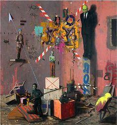 JONAS BURGERT http://www.widewalls.ch/artist/jonas-burgert/ #contemporary #art #paintings
