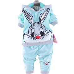 Goedkope 2016 Lente Herfst baby 2pic pak set trainingspakken Girl kleding sets fluwelen Sport past hoody jassen +…