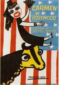 "Henryk Tomaszewski, Plakat do filmu ""Carmen w Hollywood"", 1952"