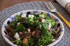 Kale Salad with Mushrooms {Via @inmyRedKitchen}
