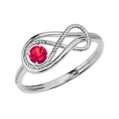 Ruby Rope Infinity 14k White Gold RingSize 75 ** You can find out more details at the link of the image.Note:It is affiliate link to Amazon.