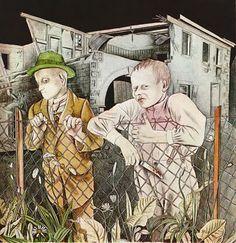 Karl Hubbuch, Chicken Thiefs, 1923