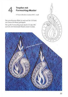 Album Archive - Hildegard Glos - Kleine Schmuchstucke In Chrysanthe Lace Earrings, Lace Jewelry, Bobbin Lace Patterns, Crochet Patterns, Irish Crochet, Crochet Lace, Bracelet Fil, Bobbin Lacemaking, Needle Lace