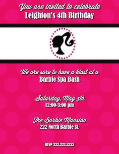 Barbie birthday invitation things i like and like to do great wording on barbie invite filmwisefo Choice Image