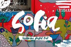 Sofia - Handdrawn Playful Font by Anastasiia Macaluso on @creativemarket
