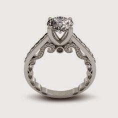 2.62 ct Round Cut Diamond Engagement Ring VVS1 / D 14k White Gold