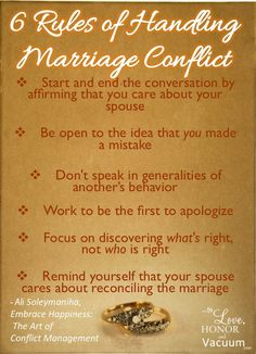 6 Rules of Relationship Conflict--Want to get over conflict in your marriage? Just follow these steps, and you'll find conflict can build your marriage, not destroy it.