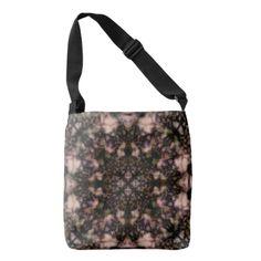 Brown kaleidoscope pattern tote bag