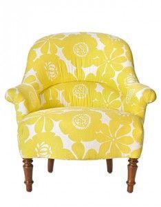 Pop of sunshine for living room, love the print
