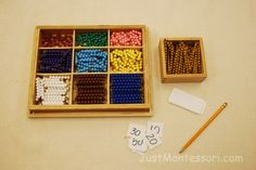 bead bars Multiplication and Division - Learned through Bead Bar Exercises, Boards, and Charts.