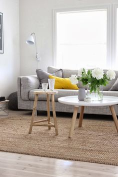 Interior Inspiration- grey & yellow pillows-get this look @ noraquinonez.etsy.com