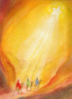 A lovely postcard to send someone or put in a Postcard stand just to look at. Chalkboard Pictures, Chalkboard Drawings, Rudolf Steiner, Wet On Wet Painting, Spiritual Paintings, Biblical Art, Encaustic Art, Jesus Pictures, Christmas Paintings