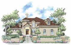 Mission House Plan with 4664 Square Feet and 4 Bedrooms(s) from Dream Home Source | House Plan Code DHSW42371