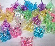 I loved these little clip butterflies put on my hair when I got it braided or twisted halfway to me ear and the rest of my hair in curls!!! They broke easily with a pinch! Haha!