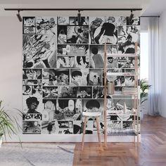 Tokyo Ghoul Manga Caps Wall Mural by stellabernstein Cute Room Ideas, Cute Room Decor, Room Ideas Bedroom, Bedroom Decor, Gamer Room, Nerd Room, Kawaii Room, Aesthetic Room Decor, Dream Rooms