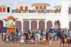 Aurangzeb, as he was according to Mughal Records:  3. Captive Dara being paraded in Delhi  Scene of ...