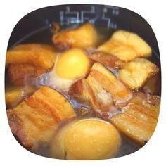 Rice Cooker Recipes, Pork Recipes, Asian Recipes, Cooking Recipes, Healthy Recipes, Ethnic Recipes, Recipies, Braised Pork Belly, Cafe Food