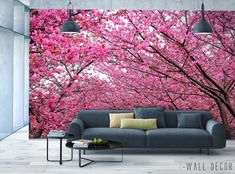 Pink Blossom Photo WALLPAPER MURAL Sakura Tree Arch Wall ART Room Decor