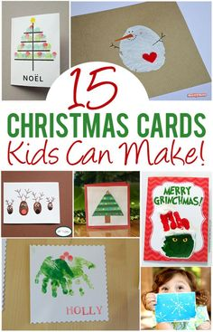 15 Christmas Cards Kids Can Make! The TOP picks from Pinterest. So many good ideas I can't choose a favorite!