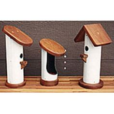 PVC Bird Houses Plan - Woodworking Project Paper Plan $6.95