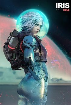Iphone Wallpapers HD Sci Fi Lockscreen https://pinterest.com/iphonewallpers/ Pics https://twitter.com/IphoneWallpers Follow http://animewallpers.tumblr.com https://twitter.com/AnimeWallpers HD Pixiv Deviantart Tutorial Digital Drawing Gallery Style By Fan Imagen Art IPhone Lockscreen  Robot Spacesuit Technology Future Network Character Concept Beauty Artwork Planet Science Fiction Hologram Universe Fantasy Wolrd Pretty Modern Clothes Аниме Anime Background Landscape http://shink.in/YXDVs