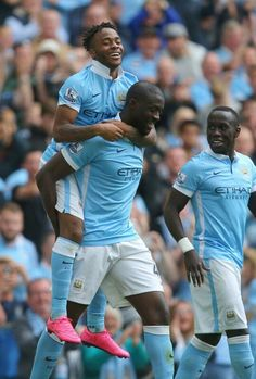 Raheem Sterling, Yaya Toure and Bacary Sagna