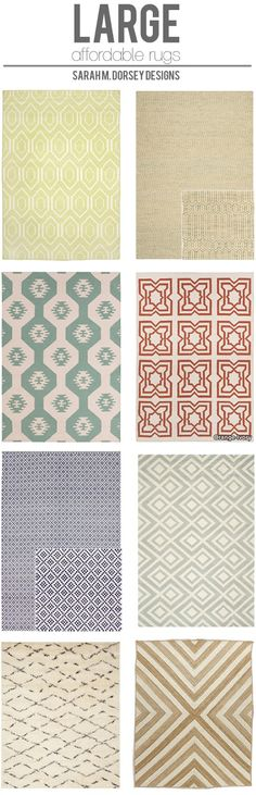 sarah m. dorsey designs: Affordable Finds | Large Area Rugs