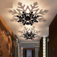 Moderne Led flocon de neige mur mobilier porche lumière Chambre plafonniers Couloir Balcon applique Accueil couleur Acrylique Ombre