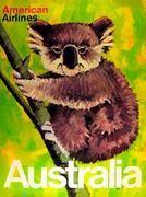 Australia Koala Bear American Airlines Original Vintage Travel Poster