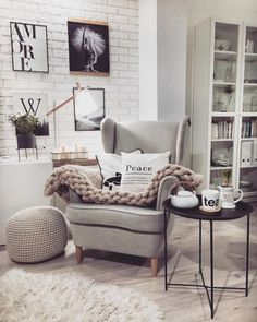 Here are some doable living room decor and interior design tips that will make your home cozy and comfortable for family and friends. Living Room Interior, Living Room Decor, Bedroom Decor, Living Room Inspiration, Home Decor Inspiration, Deco Studio, Scandinavian Style Home, Bedroom Corner, Home Office Design