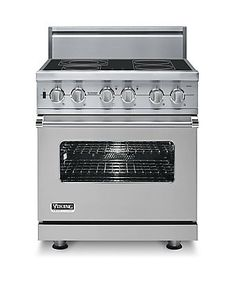 Custom Electric Induction Range - VISC - Viking Range Corporation - You don't have to choose between a fancy, blue range and induction cooking! Best of both worlds! Viking Range, Induction Stove, Large Oven, Commercial Electric, Electric Stove, Project, Vikings, Kitchen Remodel, Kitchen Renovations