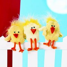 Charming Chicks Sock Puppets
