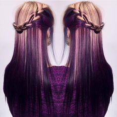 Purple blond ombre