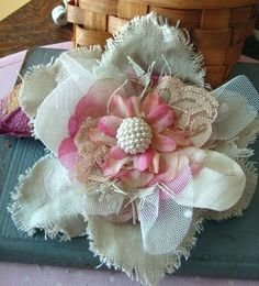 fabric flower rosette inspiration