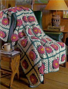 Pretty crochet afghan