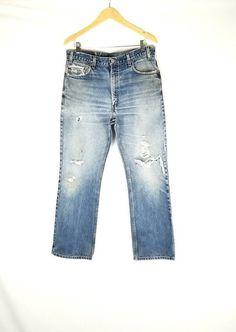 2ece105aa5062 Vintage Levi s 517 Destroyer Jeans Boyfriend   Women s Mens size 34
